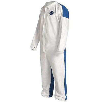 (25) Dupont TD125S Tyvek Disposable Coverall w Elastic Wrists / Ankles LARGE