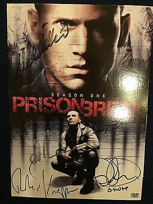 Prison Break signed cast!! Wentworth Miller Dominic Purcell and more! very rare