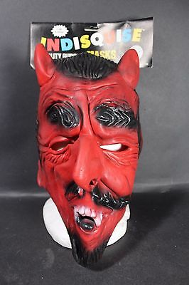 Vintage Rubies Costume Indisquise Rubber Classic Devil Mask 1986 Halloween NOS