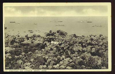 FREETOWN, SIERRA LEONE, AFRICA, TOWN & HARBOR OVERVIEW, TUCK PUB, c. 1910-20
