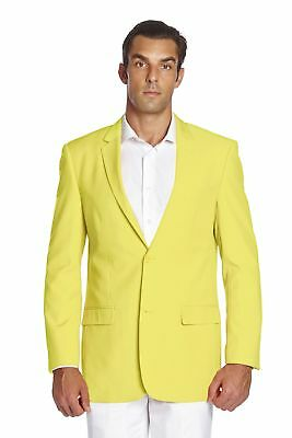 CONCITOR Men's Suit Jacket Separate Blazer Coat Solid YELLOW Color Two Button