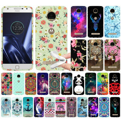 For Motorola Moto Z Play Droid XT1635 Design TPU SILICONE Soft Rubber Case Cover