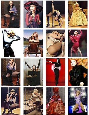 16  postcards of  Madonna Ciccone pop singer queen hot beauty music cover show