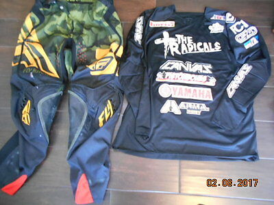Fly Racing Evo 2.0 Boa Pants 34 Large Canvas Mx Jersey Motocross Gear Mismatched