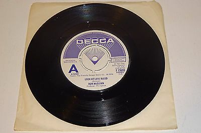 """RON McQUINN LOOK AT LOVE BLEED 1977 DECCA UK 1st PRESS DEMO 7"""" - also Thin Lizzy"""