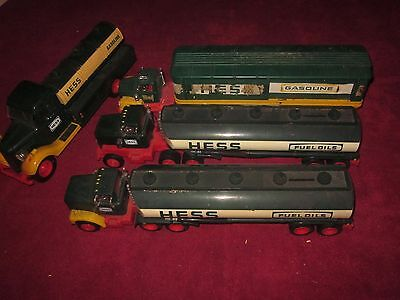 Vintage 1975 76 77 Hess Toy Fuel Oil Gasoline Truck tractor trailers And Banks!
