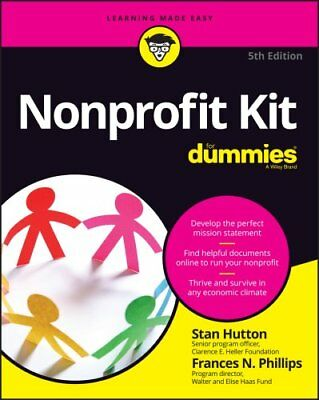 Nonprofit Kit For Dummies by Stan Hutton 9781119280064 (Paperback, 2016)