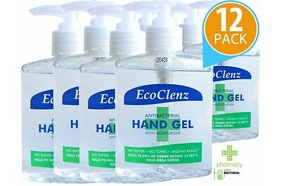 EcoClenz - Alcohol Hand Sanitiser Gel Sanitizer Rub 12 x 250ml Pack