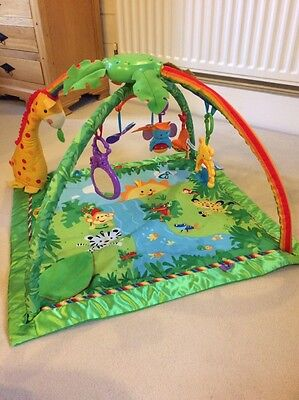 Fisher-Price Rainforest Melodies and Lights Deluxe Gym / Play Mat