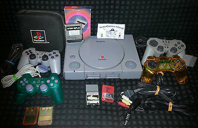Lotto Sony Playstation  Stock Ps1 Psx Psone Console 4 Pad Memory Card Action
