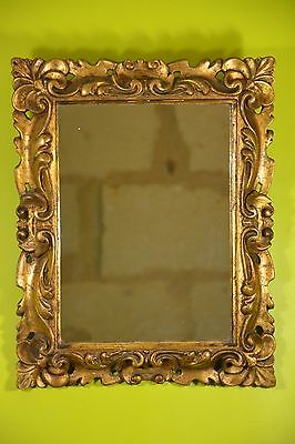 MIROIR MERCURE STYLE LOUIS XV ROCAILLE GILDED ROCOCO STUCCO MERCURY MIRROR 19th