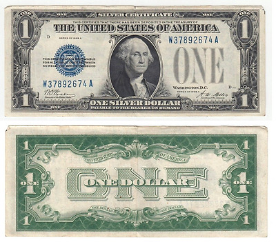 "1 US Dollar 1928 A  ""Silver Certificate"" 1"