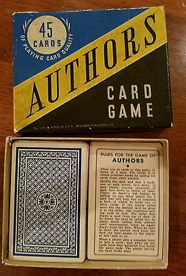 Rare Vintage AUTHORS 45 Card Game Whitman Complete Deck No. 3010
