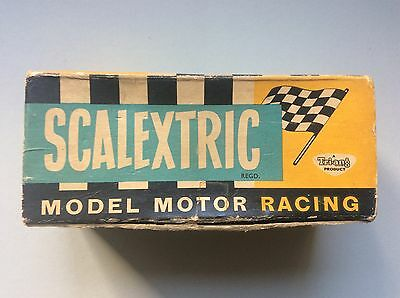 Rare Scalextric Mm / C62 Ferrari Sharknose Car Boxed Working 1960s Red And Blue