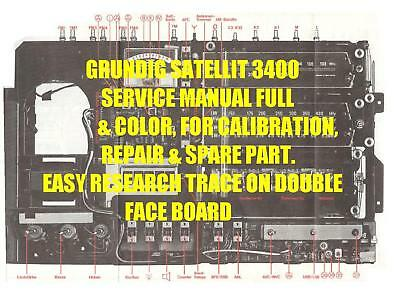 Grundig Satellit 3400 Shortwave Service Manual