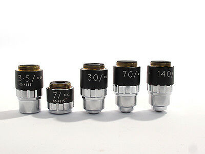 Vickers Instruments Objectives set of 5  for Microscope