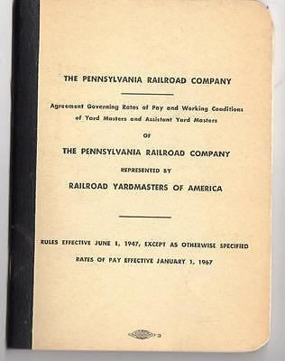 1947/1967 Pennsylvania Railroad Co*yardmasters Of America*rule Booklet*59 Pages