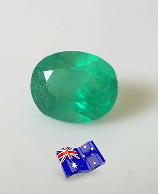 Natural colombian emerald  loose gemstone oval cut