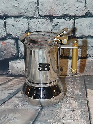 Vev Vigano Inox Oro Stovetop Espresso Maker Italy Stainless 18/10 One Cup