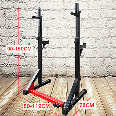 New High Quality Adjustable Gym Squat Rack & Dip Stand Barbell/Weight Gym Bench