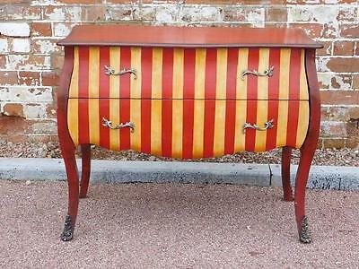 A Fun And Funky Painted Vintage Style Chest Of Drawers