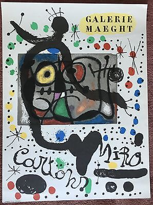 Miró, JOAN: Cartons - Galerie Maeght 1965 - OE Farblithographie
