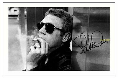 4x6 SIGNED AUTOGRAPH PHOTO PRINT OF STEVE MCQUEEN #38