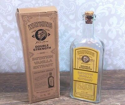 Vintage 1973 Watkins Double Strength Vanilla Extract Collector's Ed Reproduction