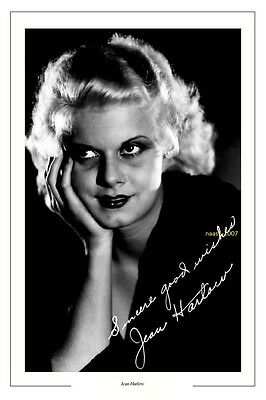 4x6 SIGNED AUTOGRAPH PHOTO PRINT OF JEAN HARLOW #38