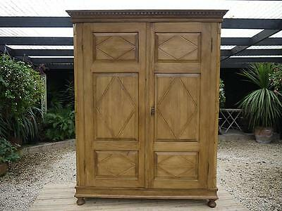 Wow! Large/wide (Like A Triple!) Old Antique Georgian! Knock Down Pine Wardrobe