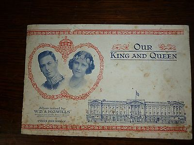 Our King and Queen, Full set of 50 Wills  Cigarette Cards & Album. royalty