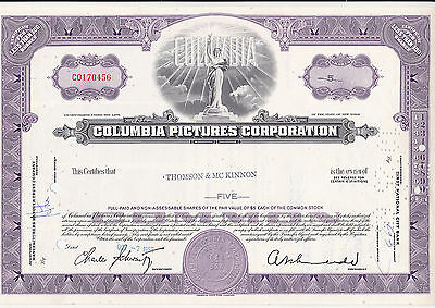 Columbia Pictures Corporation-share v.1965