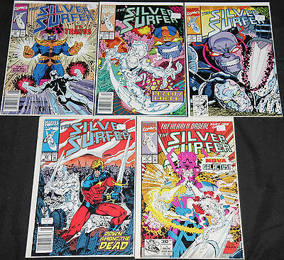 Marvel Copper-Modern SILVER SURFER & THANOS 21pc Mid-High Grade Comic Lot VF-NM