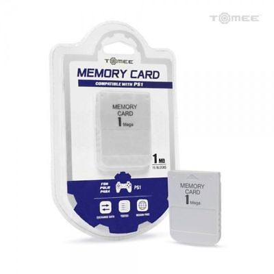 PS1 Tomee 1MB Memory Card - Sony Playstation 1 - M03918