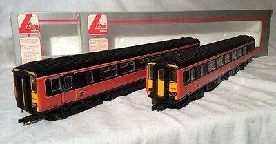 Lima Class 156 Dmu 2 Car Set In Strathclyde Orange And Black Livery