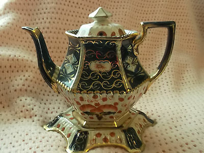 Gaudy Welsh Teapot With Matching Stand