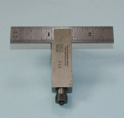 BROWN & SHARPE No. 554  DIEMAKERS SQUARE  with 2 1/2 INCH BLADE; machinist