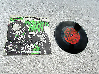 "The Revillos 7"" A Monster Man Orig Uk 1981 1St Press P/s Near Mint Superville"