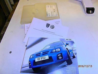 MG ZR (Facelift) Owners Handbook