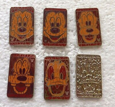 Disney Pin - DLR 2014 Hidden Mickey - Character Tiki Faces - Complete Set of 6