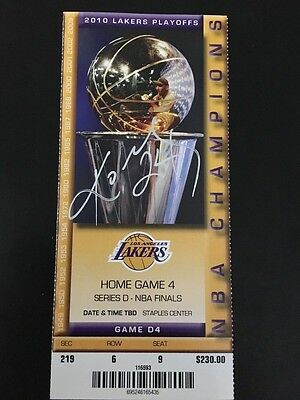 Kobe Bryant Signed Auto 2010 NBA Playoffs Game 7 Finals Ticket JSA  Autographed