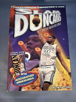 RARE San Antonio Spurs Slam Duncans collectible cereal box TIM DUNCAN LIMITED