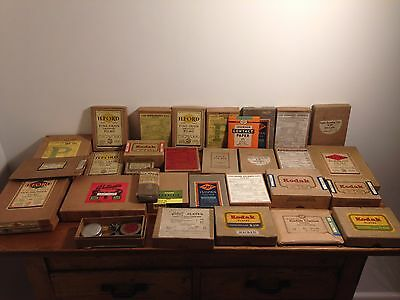 Job lot of vintage photographic boxes (empty), KODAK, ILFORD