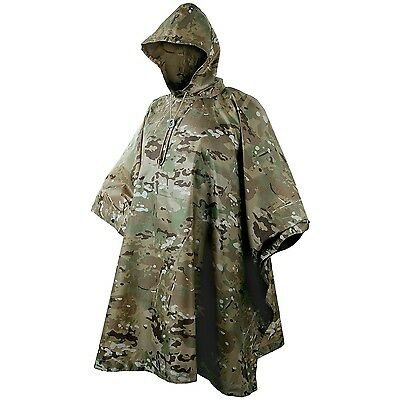 US Army Hooded Waterproof Ripstop Poncho Basha MultiCam