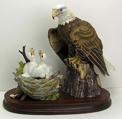 Andrea by Sadek's Bald Eagle with Chicks Signed Limited Edition #1727/3000