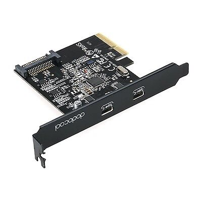 dodocool SuperSpeed USB 3.1 PCI-Express Card with Dual Reversible Type-C Port...