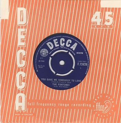 The Fortunes You Gave Me Somebody To Love Vinyl Single 7inch Decca