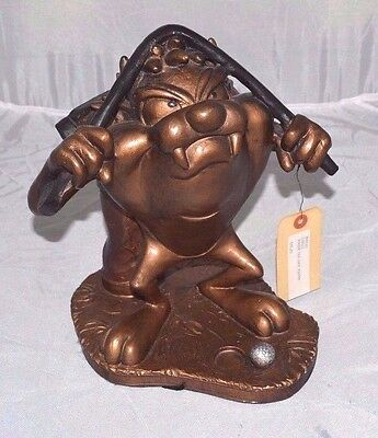 New TAZMANIAN DEVIL STATUE Golf TAZ Austin Sculpture 1998 RARE Warner Bros WOW!
