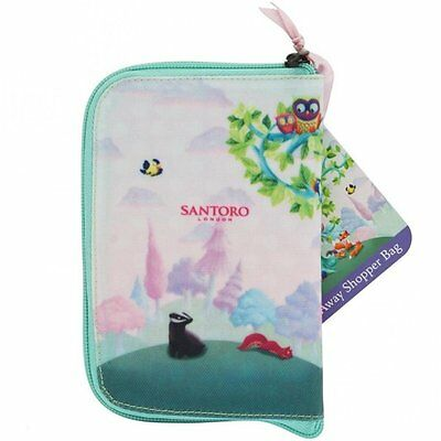 Santoro Folding Shopping Bag - Wildwood Animal Design
