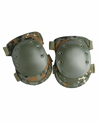 Tactical Knee Protection Protective Pads Airsoft Paintball Combat Flecktarn